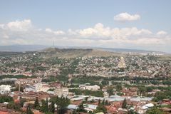Paisagem de Tbilisi (Geórgia) Fotos de Stock Royalty Free