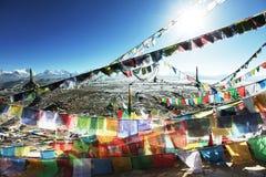 Paisagem de Tibetian fotografia de stock