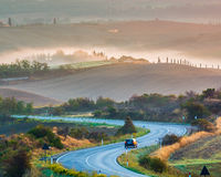 Paisagem de Toscânia no nascer do sol Imagem de Stock Royalty Free