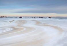 Paisagem de um mar congelado Fotografia de Stock