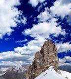 Paisagem de uma estância de esqui em Switzerland imagens de stock royalty free