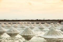 Paisagem de uma exploração agrícola de sal Fotos de Stock