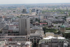 A paisagem de Varsóvia do balcão do palácio da cultura Fotografia de Stock Royalty Free