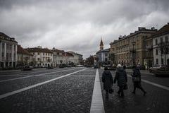 Paisagem de Vilnius foto de stock