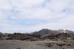 Paisagem de Volcanis do parque nacional lanzarote do timanfaya Imagens de Stock Royalty Free