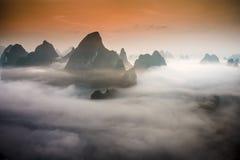 Paisagem de Xingping fotografia de stock royalty free