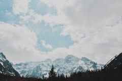 Paisagem de Zakopane das montanhas de Tatry imagens de stock