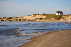 Paisagem dinamarquesa da praia Foto de Stock Royalty Free