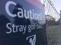 Paisagem dispersa das bolas de golfe do cuidado imagem de stock royalty free
