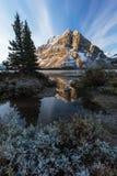 A paisagem do íntimo do lago bow no parque nacional de Banff, Alberta, pode Fotografia de Stock