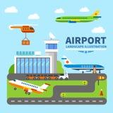 Paisagem do aeroporto Fotos de Stock