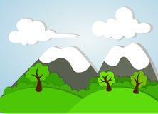 Paisagem do Applique da montanha Ilustração Stock