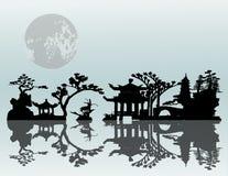 Paisagem do Asian do vetor Imagens de Stock Royalty Free