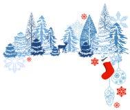Paisagem do azul do inverno ilustração stock