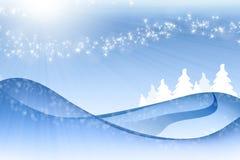 Paisagem do azul do Natal foto de stock