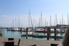 Paisagem do barco do lago Konstanz foto de stock