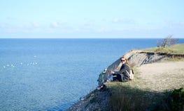 Paisagem do beira-mar Báltico em um dia do outono Imagens de Stock