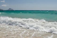Paisagem 32 do céu do mar de Europa da praia do fim de semana da Espanha foto de stock