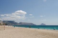 Paisagem 22 do céu do mar de Europa da praia do fim de semana da Espanha foto de stock royalty free