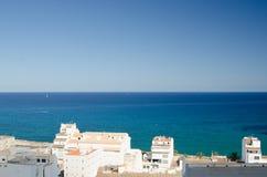 Paisagem 44 do céu do mar de Europa da praia do fim de semana da Espanha Imagem de Stock Royalty Free