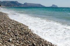 Paisagem 25 do céu do mar de Europa da praia do fim de semana da Espanha fotos de stock