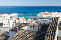 Paisagem 49 do céu do mar de Europa da praia do fim de semana da Espanha Fotografia de Stock