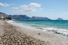 Paisagem 24 do céu do mar de Europa da praia do fim de semana da Espanha imagens de stock