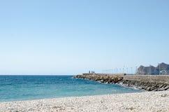 Paisagem 23 do céu do mar de Europa da praia do fim de semana da Espanha Imagem de Stock