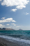 Paisagem 30 do céu do mar de Europa da praia do fim de semana da Espanha fotografia de stock