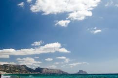 Paisagem 29 do céu do mar de Europa da praia do fim de semana da Espanha imagem de stock