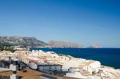 Paisagem 42 do céu do mar de Europa da praia do fim de semana da Espanha Foto de Stock Royalty Free