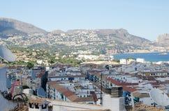 Paisagem 45 do céu do mar de Europa da praia do fim de semana da Espanha Imagem de Stock Royalty Free