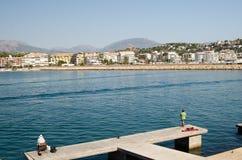Paisagem 58 do céu do mar de Europa da praia do fim de semana da Espanha Foto de Stock
