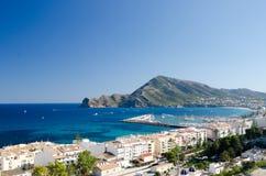 Paisagem 48 do céu do mar de Europa da praia do fim de semana da Espanha Fotografia de Stock