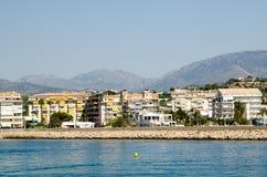 Paisagem 57 do céu do mar de Europa da praia do fim de semana da Espanha foto de stock
