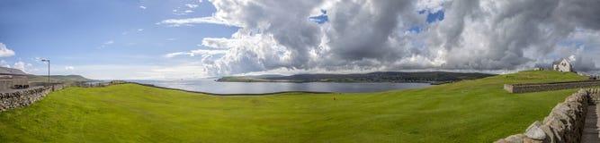 Paisagem do campo de golfe de Shetland Fotos de Stock Royalty Free