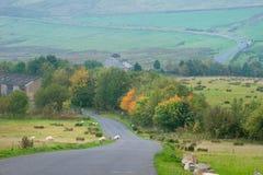 Paisagem do campo no distrito máximo, Reino Unido fotografia de stock