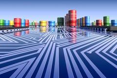 paisagem do cartão-matriz 3d. Imagens de Stock