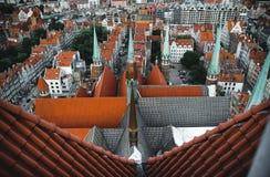 Paisagem do centro de cidade de Gdansk foto de stock