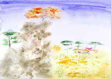 Paisagem do chinês tradicional ilustração do vetor