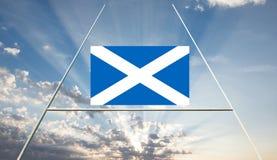 Paisagem do conceito do rugby de Escócia foto de stock