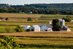 Paisagem do Condado de Lancaster Pensilvânia foto de stock
