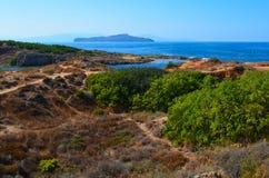 Paisagem do Cretan Fotografia de Stock