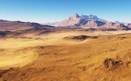 Paisagem do deserto da fantasia Fotos de Stock Royalty Free