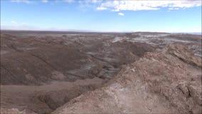 Paisagem do deserto de Atacama o Chile das montanhas, do vulcão e do vale filme
