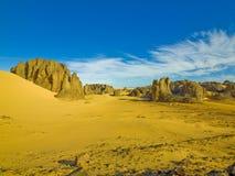 Paisagem do deserto de Sahara imagem de stock
