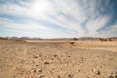 Paisagem do deserto, Egito, Sinai sul Foto de Stock