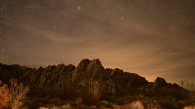 Paisagem do deserto na noite video estoque