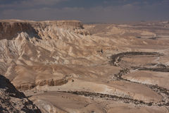 Paisagem do deserto, Negev, Israel Fotos de Stock