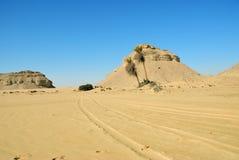 Paisagem do deserto ocidental Sahara, Egito imagens de stock royalty free